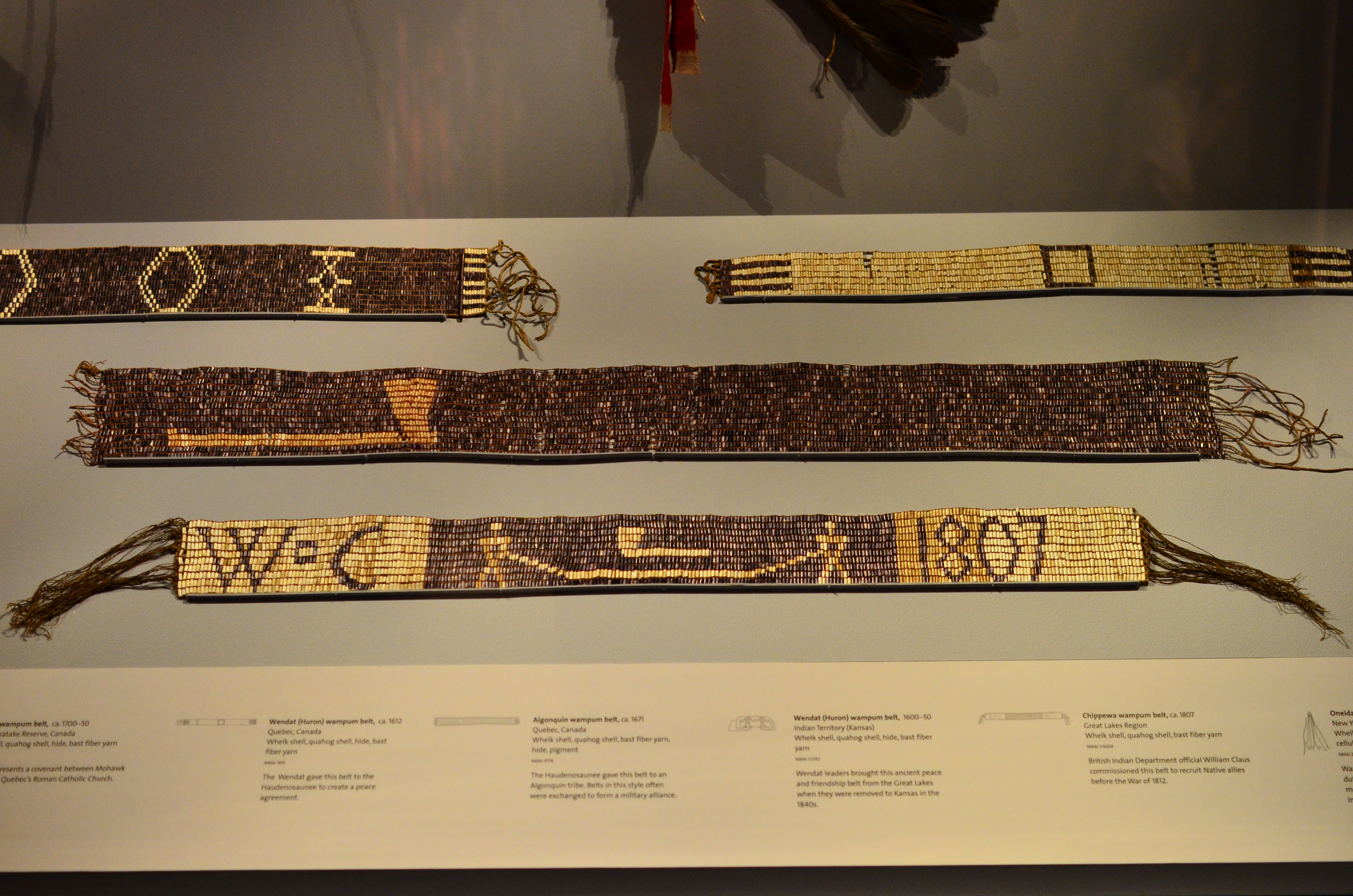 Chippewa Wampum Belt Used By the British to Recruit Native Allies Before 1812
